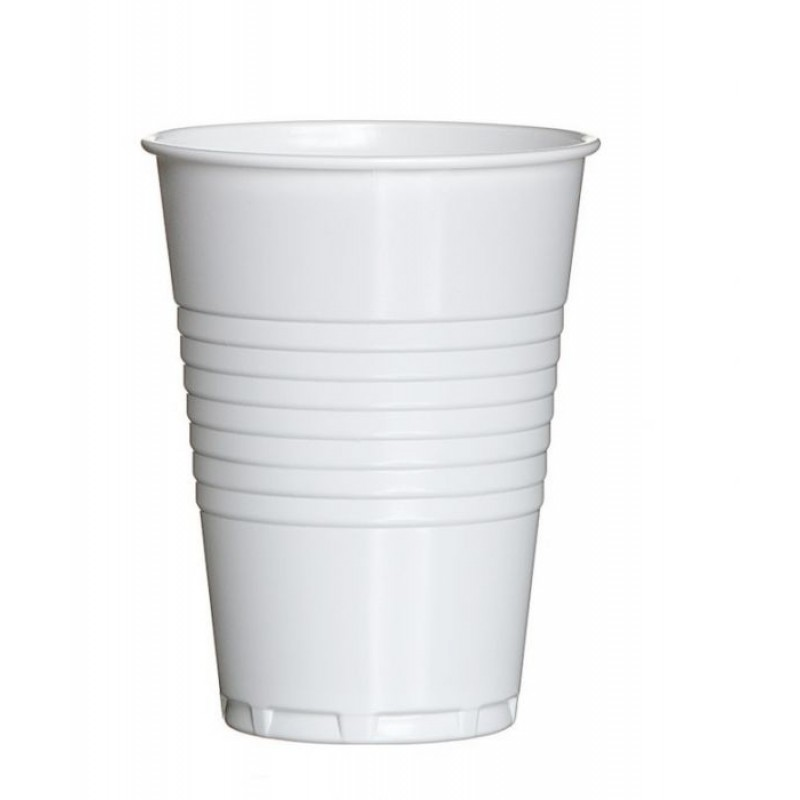 Plastic Koffiebekers Wit