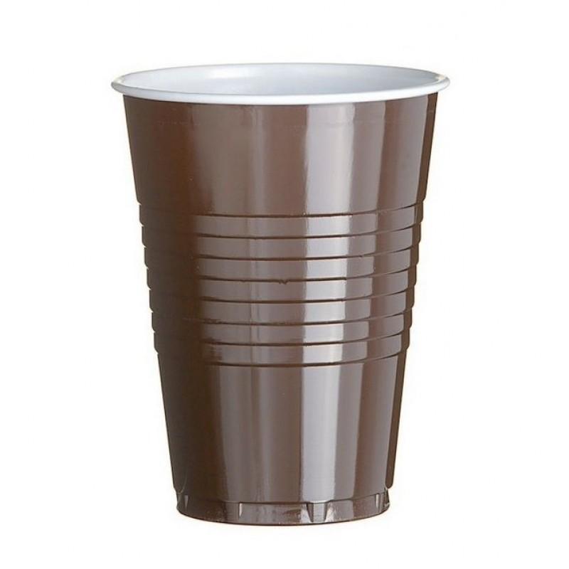 Plastic Koffiebekers Bruin